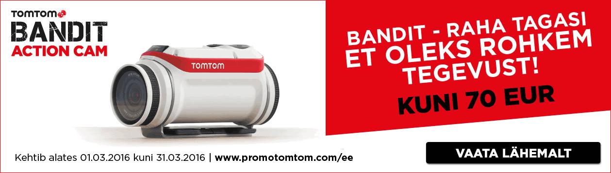 TomTom bandit-extreemkaamera-raha tagasi
