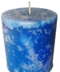 Mottled candle